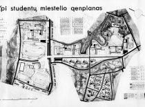 Kauno politechnikos instituto (dab. Kauno technologijos universiteto) studentų miestelio generalinis planas, 1964 m.