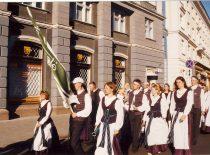 """KTU akademinis choras """"Jaunystė"""" XIII """"Gaudeamus"""" festivalyje Vilniuje, 1999 m."""