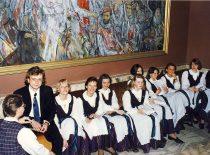 """KTU akademinis choras """"Jaunystė"""" švenčia 70-mečio jubiliejų, 1996 m."""