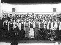 Ateitininkų choras, 1936 m. (Originalas – Vytauto Naručio šeimos archyve)
