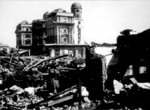 Ruins of the Institute of Physics and Chemistry, which was bombed by the retreating German army, 1944 (Original is in the Office of the Chief Archivist of Lithuania)