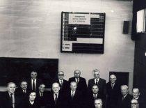 KPI Cheminės technologijos fakulteto mokslinė taryba, 1985 m. Sėdi (iš kairės): J. Degutis, S. Kutkevičius, V. Zelionkaitė, J. Janickis, J. Bernatonis, E. Pacauskas, M. Martynaitis, K. Sasnauskas, B. Stulpinas, J. Lakštauskas, J. Venskevičius. Stovis (iš kairės): R. Baltrušis, V. Jasiukevičius, J. Zdanavičius, M. Martusevičius, A. Paulauskas.