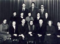 KPI Neorganinės chemijos katedra, 1983 m.1-oje eilėje (iš kairės): doc. A. Degutienė, V. Prokupinienė, doc. E. Pažarauskas, katedros vedėja prof. V. Zelionkaitė, doc. B. Matulis, doc. Z. Martynaitienė, doc. L. Bernotienė; 2-oje eilėje: 2-oji – R. Česnienė, I.Melkienė, doc. E. Rinkevičienė, L. Pliuskytė; 3-ioje eilėje: doc. V. Janickis, R. Rumša, doc. A. Žarnauskas.