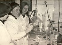 Laboratory of the Faculty of Chemical Technology, 1982.