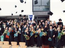 Diploma award ceremony at the Faculty of Chemical Technology, 2003.