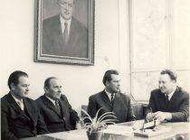 Professors V. Klusis, J. Degutis, B. Milukas and S. Kutkevičius, 1980.