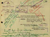 Document of the transfer of the Research Laboratory to the University, August 1940. (Original is in the Office of the Chief Archivist of Lithuania)
