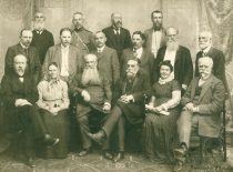 Group of the members of the Lithuanian Scientific Society, 1912. (Original is in KTU Library)