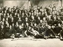 J. Basanavičius with Lithuanian folklorists from Vilnius, 1926. (Original is in KTU Library)