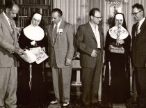 A. Damušis at the meeting of the Institute of Lithuanian Nuns of Saint Francis in Pittsburgh, 1956. (From the archive of A. Damušis family)