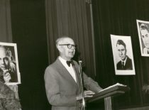 At the Conference of Freedom, USA, 8th decade of the 20th century. (From the archive of A. Damušis family)