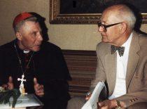 A. Damušis with cardinal V. Sladkevičius, 10th decade of the 20th century. (From the archive of A. Damušis family)