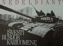 Poster for the referendum regarding the withdrawal of the occupant army of 14 June 1992.