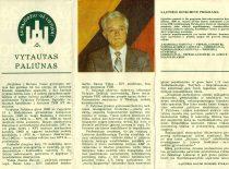 Ballot of Sąjūdis candidate prof. V. Paliūnas, 1989. (From the archive of V. Paliūnas)