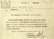 Letter of KTU Sąjūdis Coordination Council to the press centre of the constituent assembly of Sąjūdis, 1988.