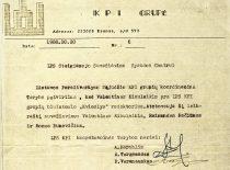 KPI Sąjūdžio koordinacinės tarybos raštas Sąjūdžio steigiamojo suvažiavimo spaudos centrui, 1988 m.