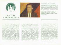Sąjūdžio kandidato P. Varanausko rinkiminis lapelis, 1990 m. (Iš P. Varanausko archyvo)