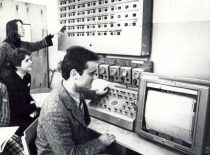 Training laboratory of the Faculty of Engineering Economics, 8th decade of the 20th century.