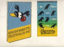 Pennants of the festivals of economists, 1987-1988.