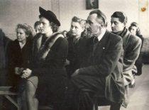Head of the Department of Eye Diseases at Kaunas University assoc. prof. J. Nemeikša at the event, 1950.