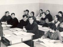 Prof. A. Makarevičius conducts a seminar, 1976.