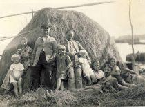 With Nasvyčiai at the village.