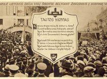 Postcard of J. Nemeikša commemorating the return of Vilnius