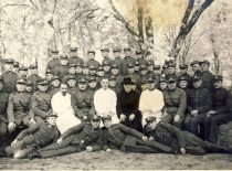 At the army with officers and soldiers, 1926.