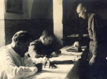 At the commission for conscripts, 1938.
