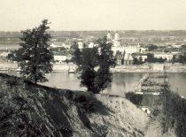Construction of Vytautas the Great bridge, 1929 (Original is in KTU Library).