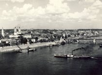 Kaunas dock, 3rd decade of the 20th century. (Original is in KTU Library).