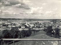 Kaunas old town from Aleksotas hill, 3rd decade of the 20th century. (Original is in KTU Library).