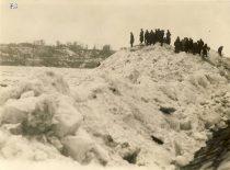 Ice jams in Kaunas, 4 April 1940. (Original is in KTU Library).