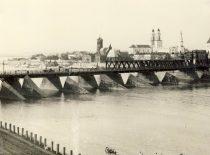 Old bridge to Aleksotas, built in 1915 (Original is in KTU Library).