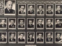 Department of Structural Mechanics at the Faculty of Construction of Kaunas Polytechnic Institute, 1957.